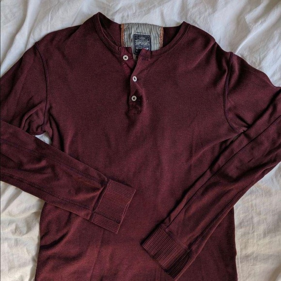 Superdry Other - Superdry Maroon Henley